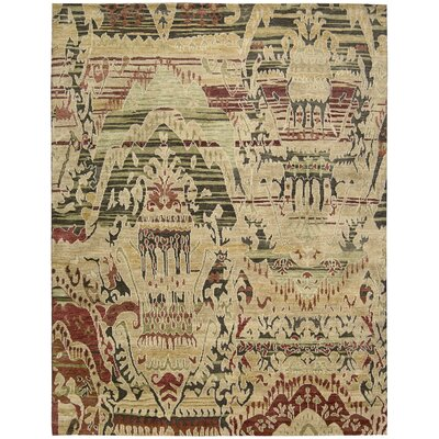 Mercado Hand-Knotted Earth Area Rug Rug Size: 99 x 139