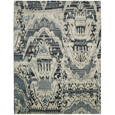 Dune Hand-Knotted Indigo Area Rug Rug Size: 12 x 15