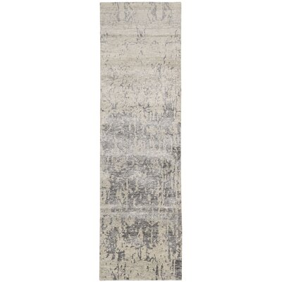 Silk Shadows Hand-Knotted Beige Area Rug Rug Size: Runner 23 x 8