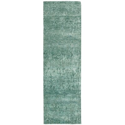 Silk Shadows Hand-Knotted Marina Area Rug Rug Size: Runner 23 x 8