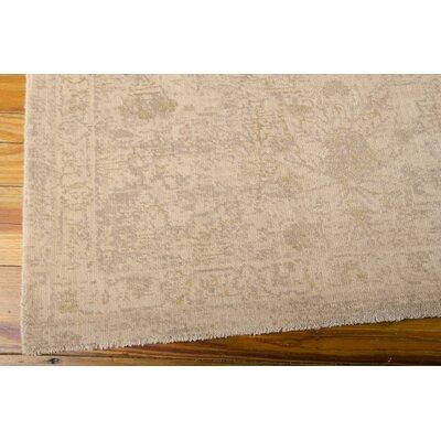 Silken Allure Sand Area Rug Rug Size: 86 x 116