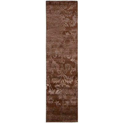 Silk Shadows Hand-Knotted Rust Area Rug Rug Size: Runner 23 x 8