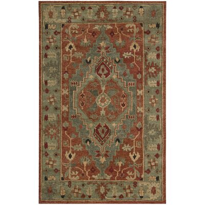 Tahoe Hand-Knotted Rust Area Rug Rug Size: 39 x 59