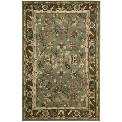 Tahoe Hand-Knotted Green Area Rug Rug Size: 79 x 99