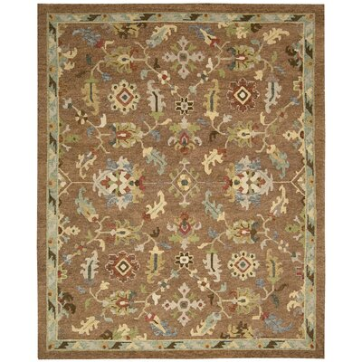 Tahoe Hand-Knotted Penny Area Rug Rug Size: 99 x 139