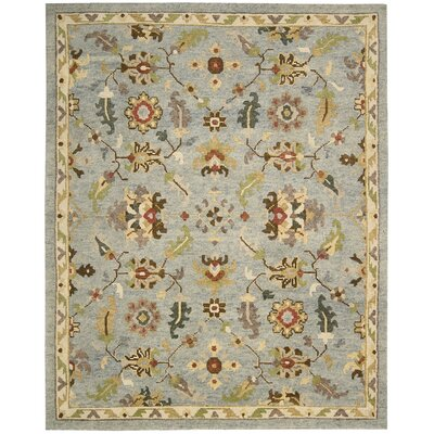 Tahoe Hand-Knotted Seaglass Area Rug Rug Size: 39 x 59