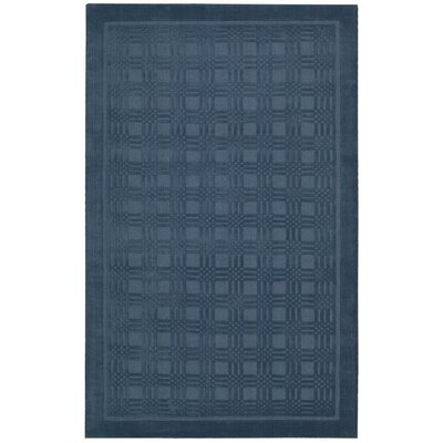 Aspasia Hand-Woven Blue Area Rug Rug Size: Rectangle 5 x 8