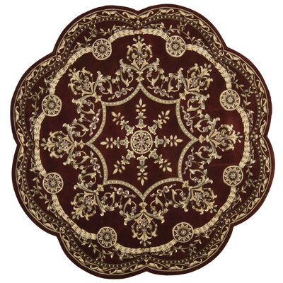 Versailles Palace Brick Area Rug Rug Size: Round 8