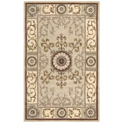 Versailles Palace Beige Area Rug Rug Size: 36 x 56