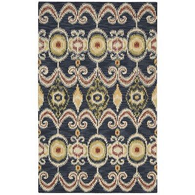 Siam Hand-Tufted Indigo Area Rug Rug Size: 56 x 75
