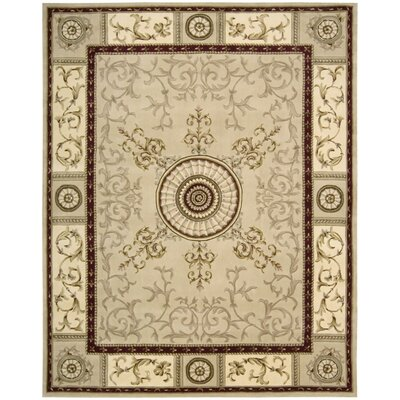 Versailles Palace Beige Area Rug Rug Size: 76 x 96