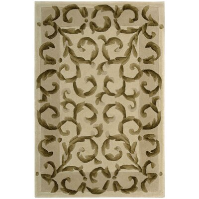 Brownlee Ivory Area Rug Rug Size: Rectangle 5'3