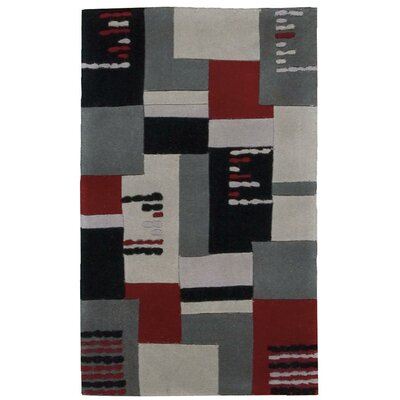 Hand-Tufted Gray Area Rug Rug Size: 19 x 29
