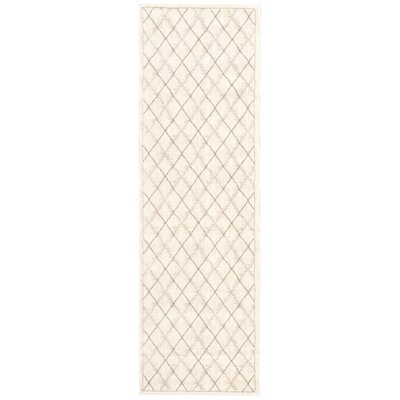 Galsworthy Ivory Area Rug Rug Size: Runner 22 x 76
