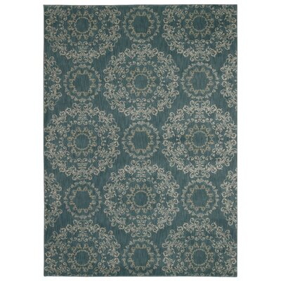 Fonzo Aqua Area Rug Rug Size: Rectangle 53 x 75