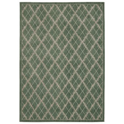 Galsworthy Light Green Area Rug Rug Size: 53 x 75