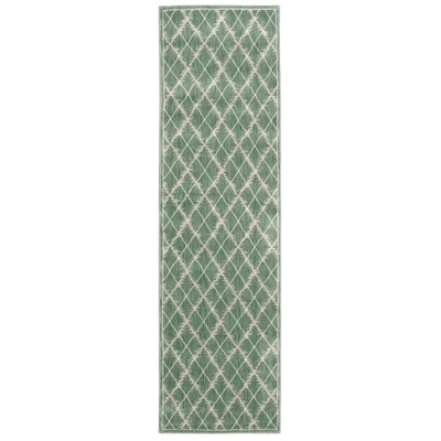 Galsworthy Light Green Area Rug Rug Size: Runner 22 x 76