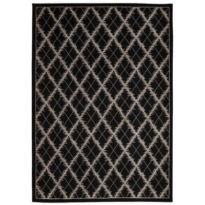 Galsworthy Black Area Rug Rug Size: Rectangle 53 x 75