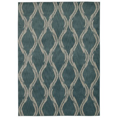 Galsworthy Aqua Area Rug Rug Size: Rectangle 93 x 129