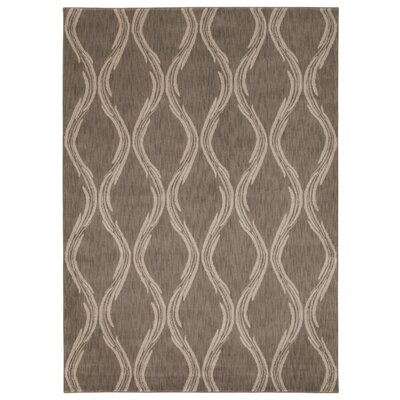 Galsworthy Taupe Area Rug Rug Size: Rectangle 53 x 75
