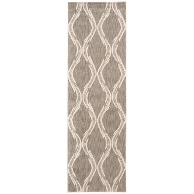 Galsworthy Taupe Area Rug Rug Size: Runner 22 x 76