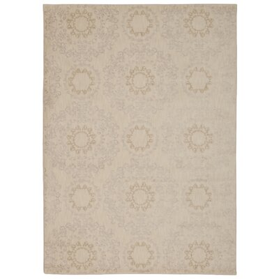 Fonzo Ivory Area Rug Rug Size: Rectangle 93 x 129