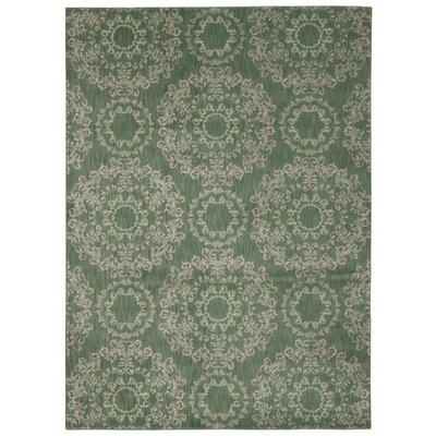 Fonzo Light Green Area Rug Rug Size: 39 x 59