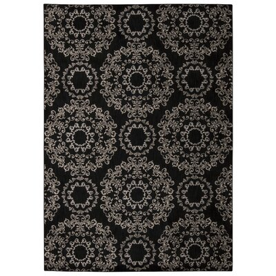 Fonzo Black Area Rug Rug Size: Rectangle 93 x 129