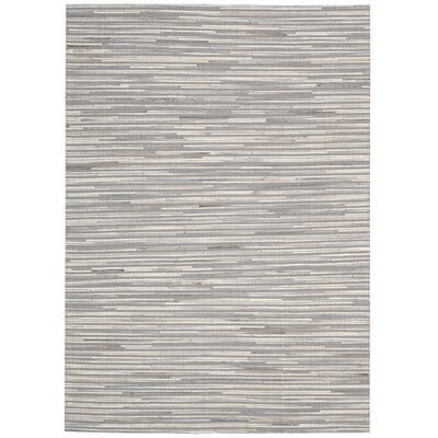 Kumari Hand-Woven Silver Area Rug Rug Size: Rectangle 53 x 74