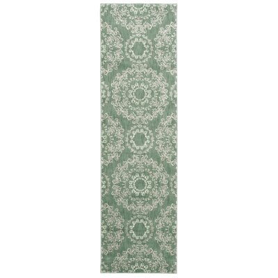Fonzo Light Green Area Rug Rug Size: Runner 22 x 76