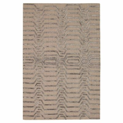 Jandreau Hand-Tufted Gray/Taupe Area Rug Rug Size: Rectangle 5 x 76