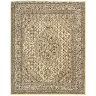 Hand Woven Wool Beige Indoor Area Rug Rug Size: 79 x 99