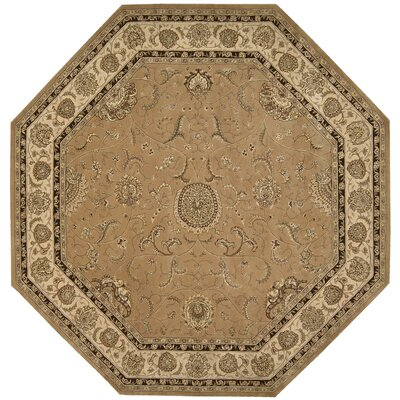 Nourison 2000 Hand Woven Wool Camel Indoor Area Rug Rug Size: Round 10