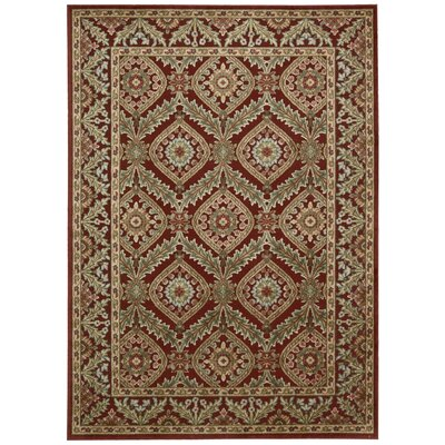 Francisca Red Area Rug Rug Size: 36 x 56