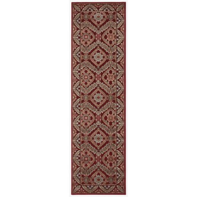 Francisca Red Area Rug Rug Size: Runner 23 x 8