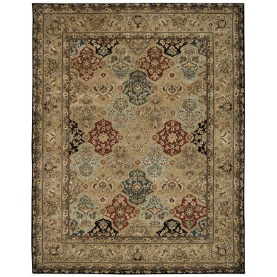 Hand Woven Wool Brown Indoor Area Rug Rug Size: 79 x 99