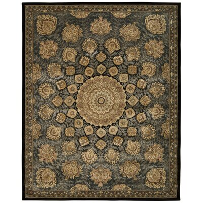 Prague Hand-Tufted Black/Beige Area Rug Rug Size: Rectangle 79 x 99