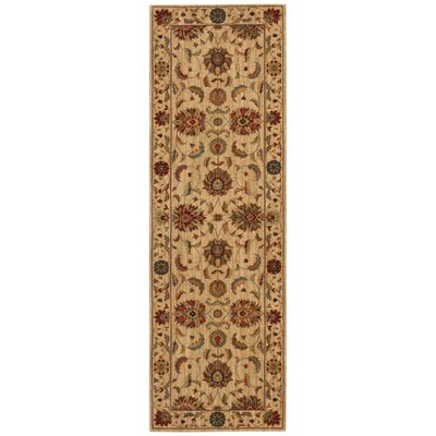 Living Treasures Ivory Area Rug Rug Size: Runner 26 x 8