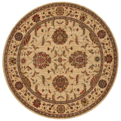 Living Treasures Ivory Area Rug Rug Size: Round 510