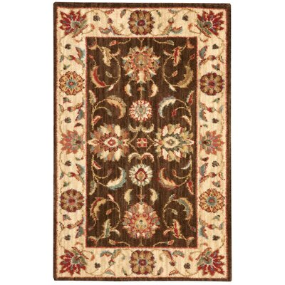 Living Treasures Brown Area Rug