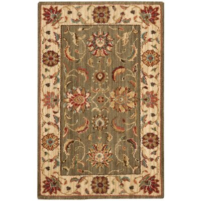 Living Treasures Green Area Rug