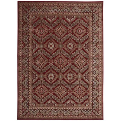 Illusions Red Area Rug Rug Size: 79 x 1010