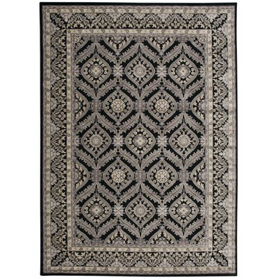 Ruckus Black Area Rug Rug Size: Rectangle 7'9