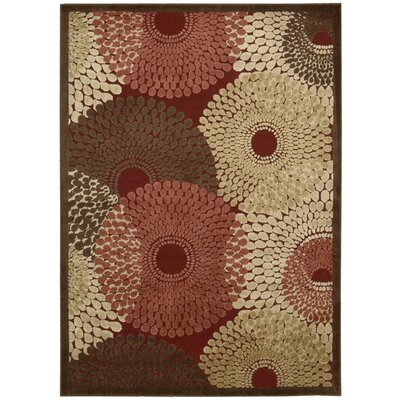 Brookview Red Area Rug Rug Size: 53 x 75