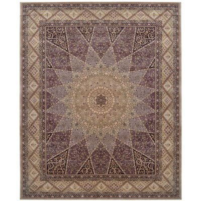 2000 Hand Woven Wool Lavender/Brown Indoor Area Rug Rug Size: 12 x 15