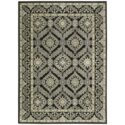 Ruckus Black Area Rug Rug Size: Rectangle 53 x 75