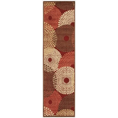 Brookview Red Area Rug Rug Size: Runner 23 x 8