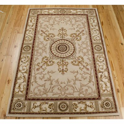 Versailles Palace Beige Area Rug Rug Size: 8 x 11