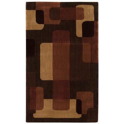 Parallels Black/Brown/Beige Area Rug