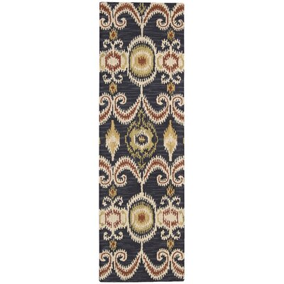 Siam Hand-Tufted Indigo Area Rug Rug Size: Runner 23 x 76
